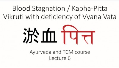 Ayurveda and TCM. Lecture 6. Blood Stagnation / Kapha-Pitta Vikruti with deficiency of Vyana Vata