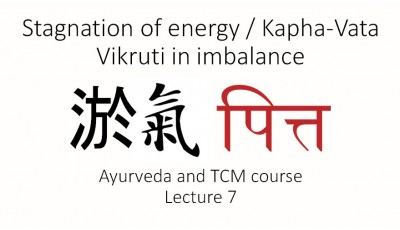 Ayurveda and TCM. Lecture 7. Stagnation of energy/Kapha-Vata Vikruti in imbalance