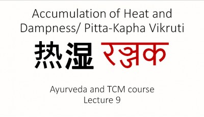 Ayurveda and TCM. Lecture 9. Accumulation of heat and Dampness/Pitta-Kapha Vikruti